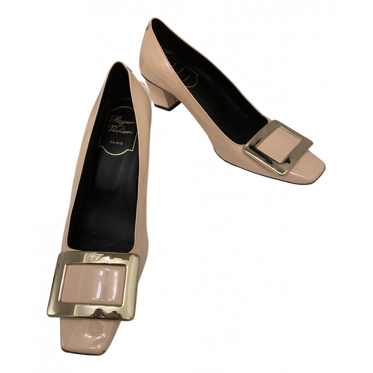 Roger Vivier Belle Vivier Beige Leather Heels for Women 34 EU