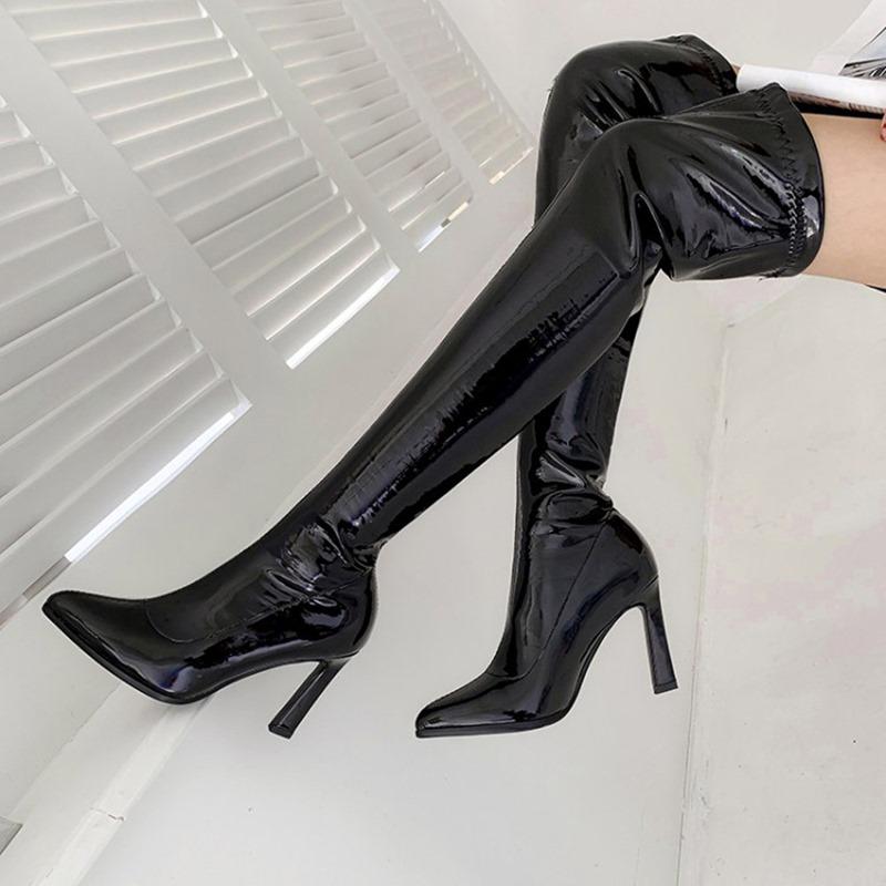 Ericdress Plain Slip-On Pointed Toe Boots