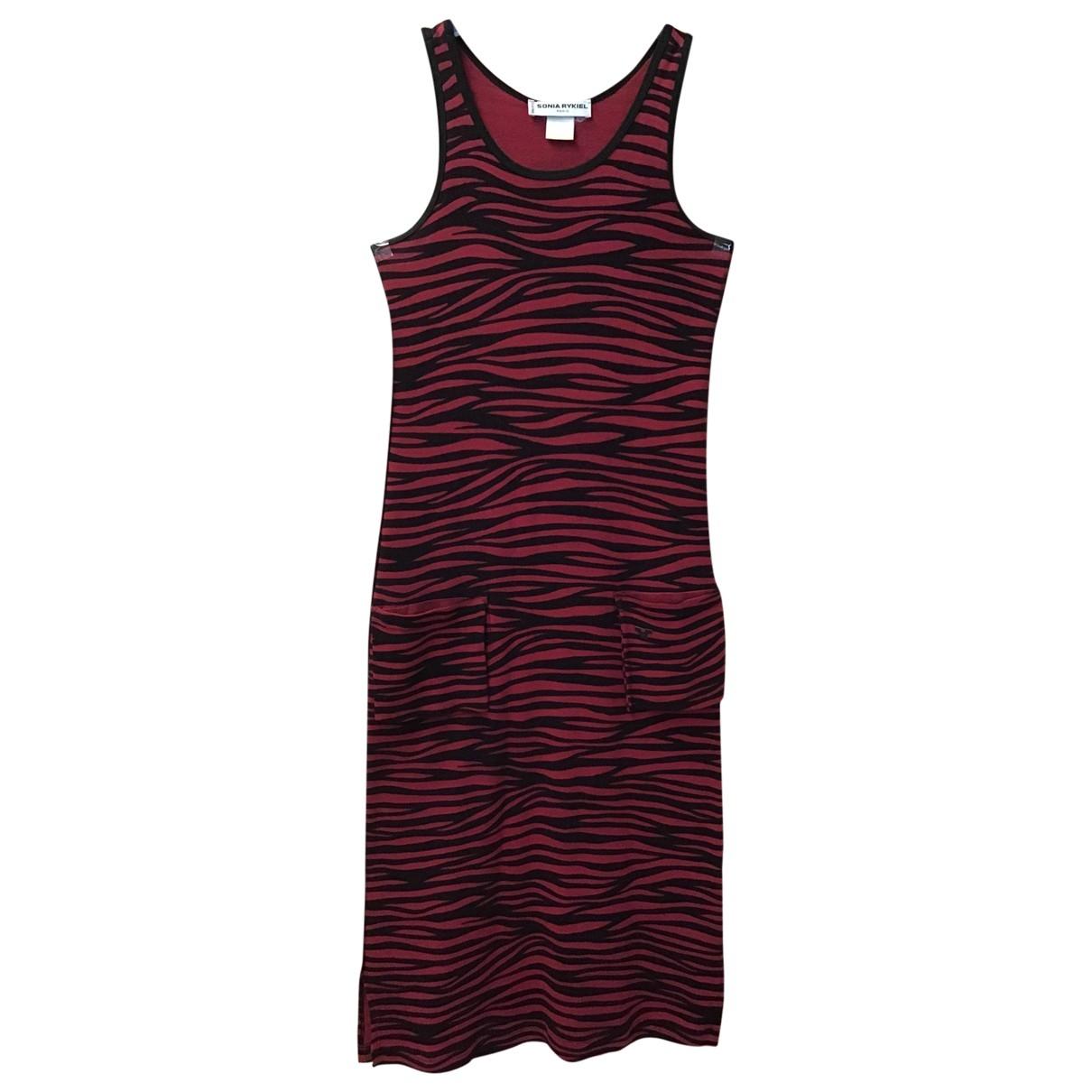 Sonia Rykiel \N Red Cotton dress for Women 36 FR