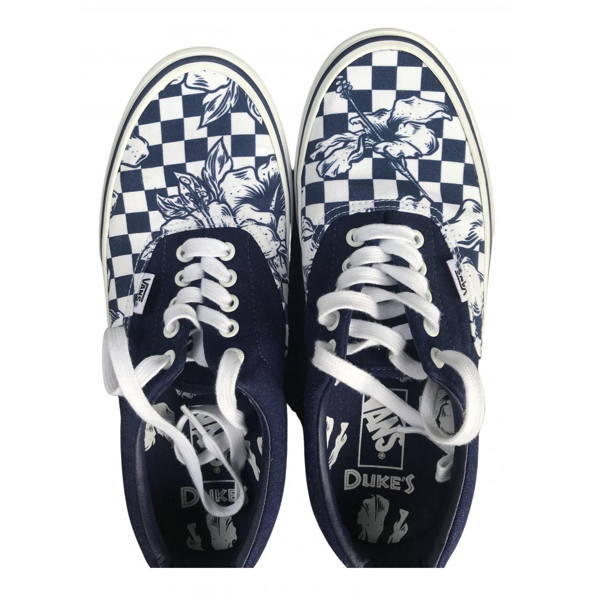 Vans \N Sneakers in  Blau Leinen