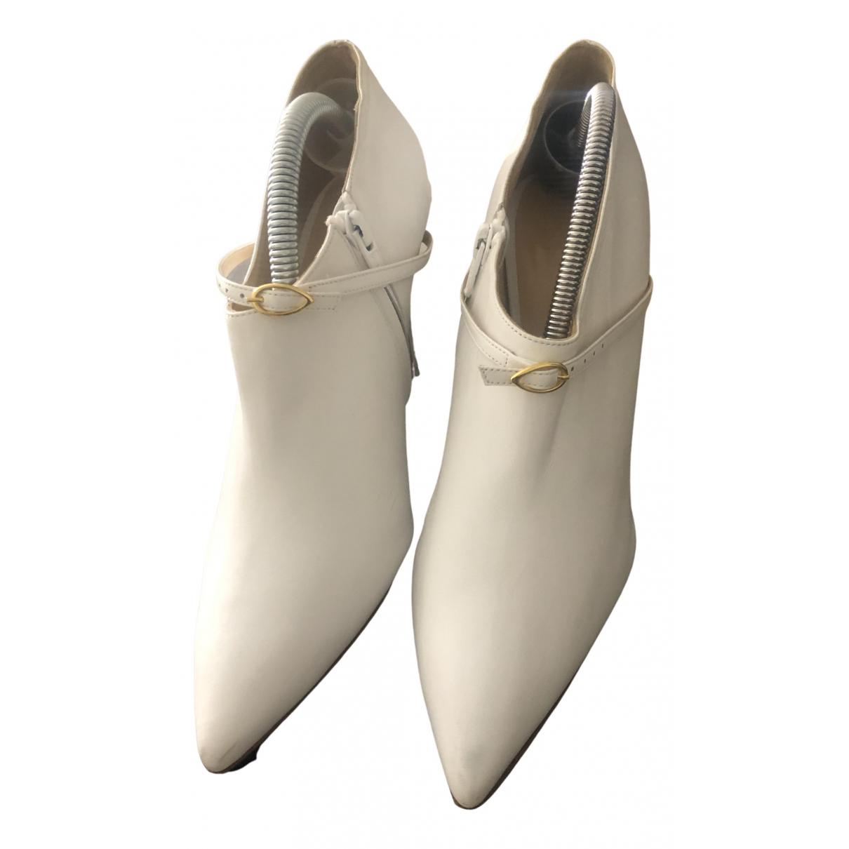Jennifer Chamandi - Boots   pour femme en cuir - blanc