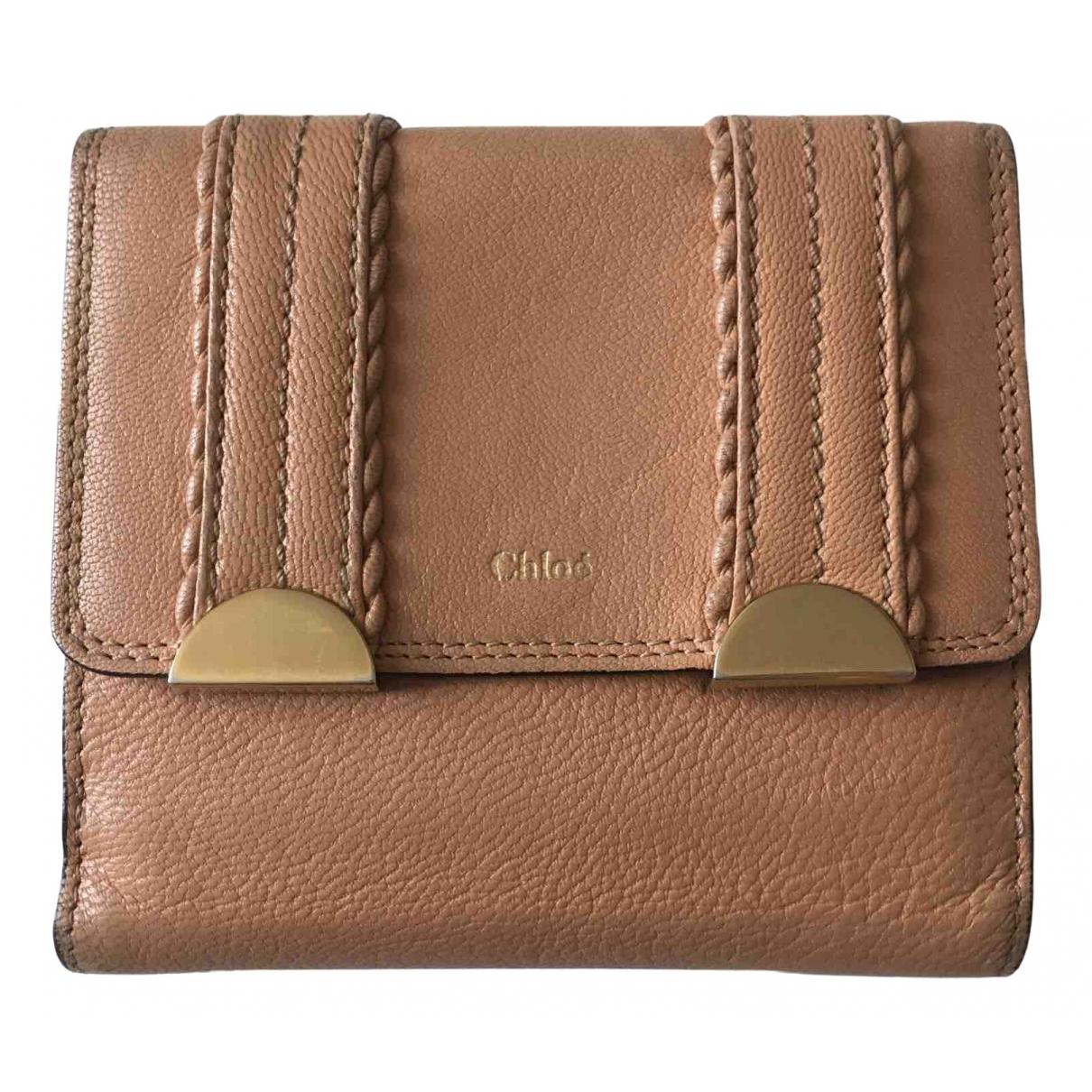 Chloe - Petite maroquinerie   pour femme en cuir - rose