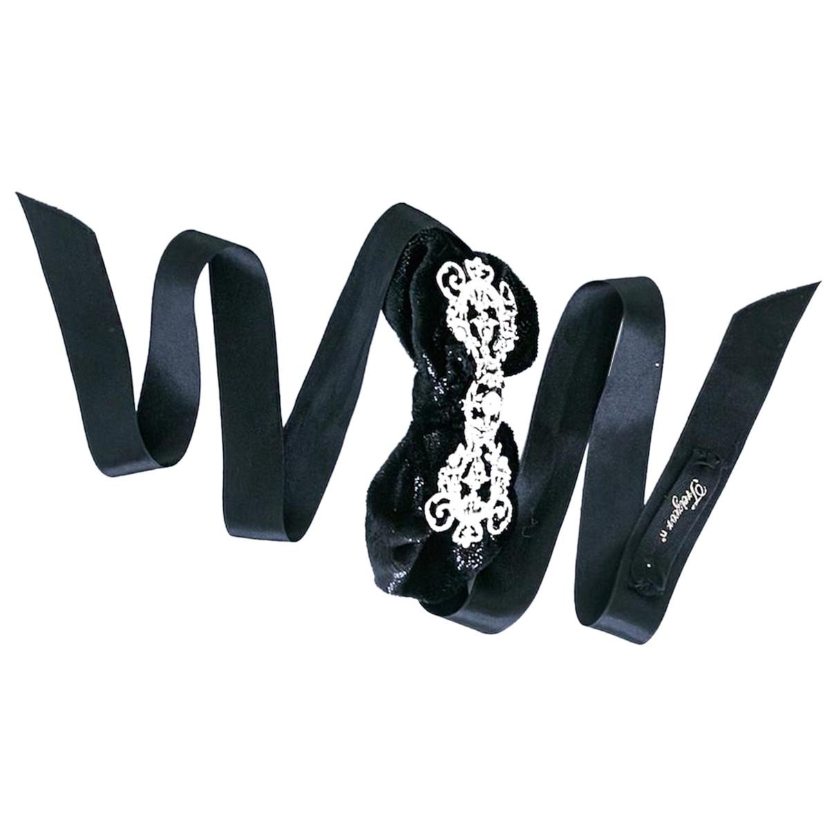 - Collier   pour femme en toile - noir