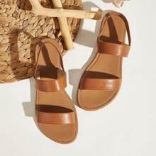Sandalias de talon abierto de dos partes