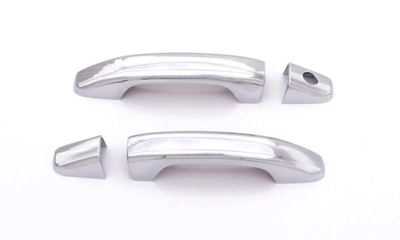 AVS 685414 Door Handle Covers (2 Door) 4pc Set - Chrome Chevrolet Silverado 1500 2014-2018