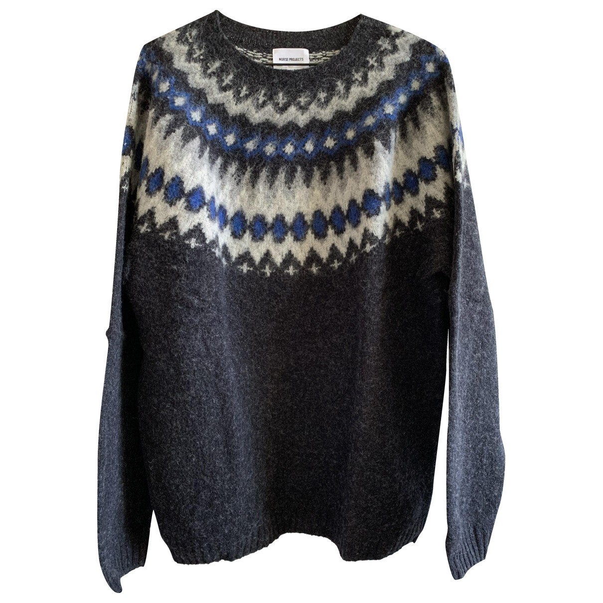 Norse Projects \N Pullover.Westen.Sweatshirts  in  Anthrazit Wolle