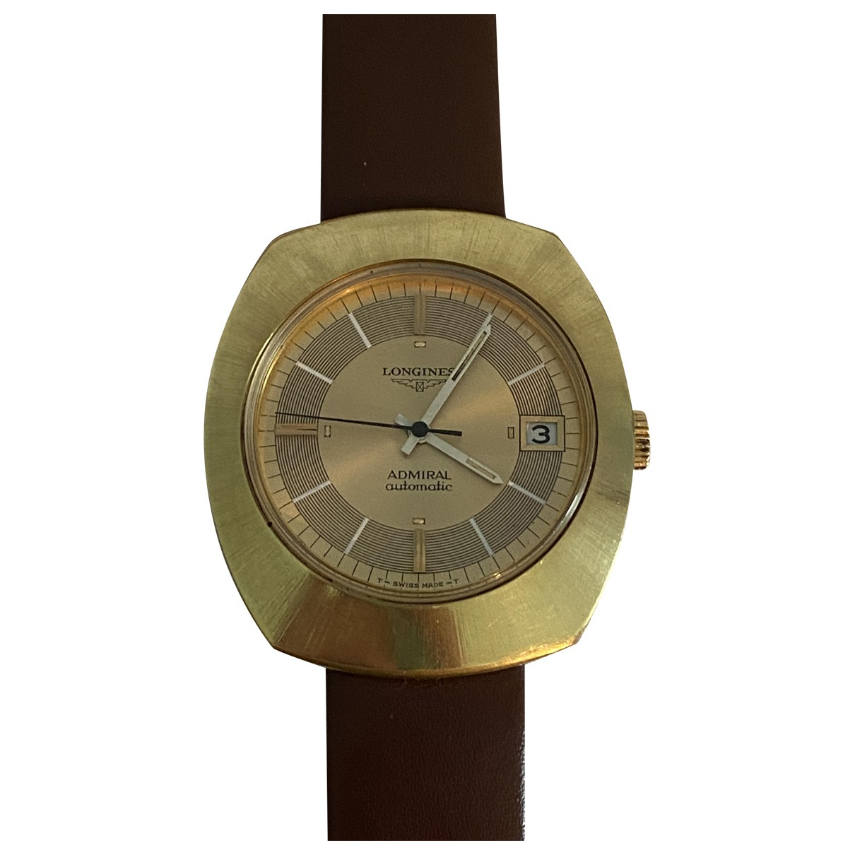 Longines Admiral Gold Gold plated watch for Men \N