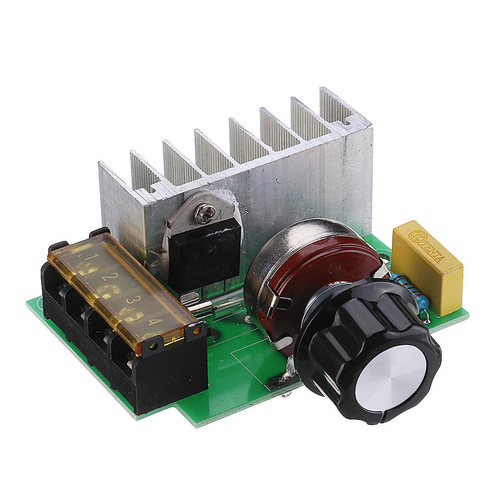 High Efficiency AC 0V-220V SCR Voltage Regulator PWM Motor Speed Controller Dual Capacitor with Knob Current Protection