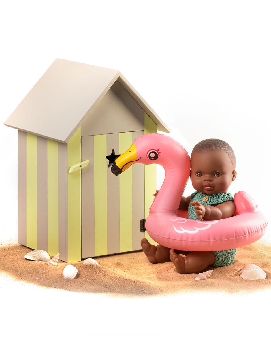 Minikane Deauville bath cabin in yellow sand wood
