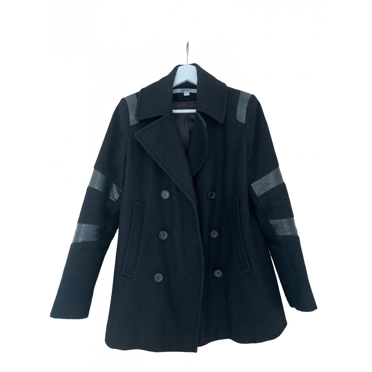 Dkny - Manteau   pour femme en laine - noir