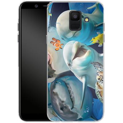 Samsung Galaxy A6 Silikon Handyhuelle - Ocean Selfie von Howard Robinson