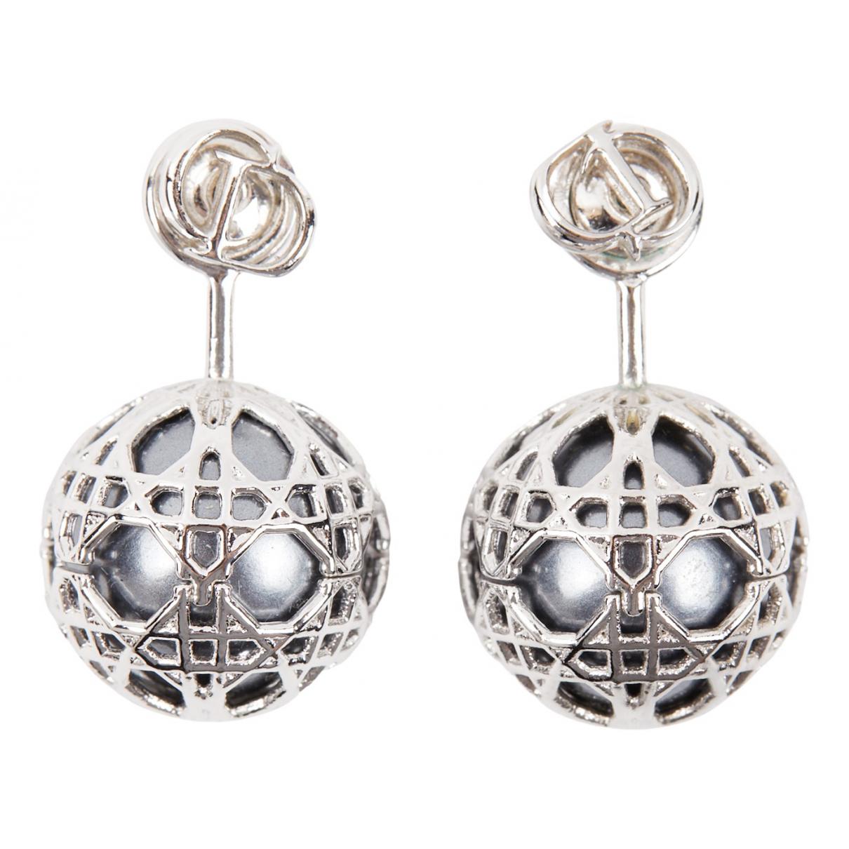 Dior N Silver Pearl Earrings for Women N