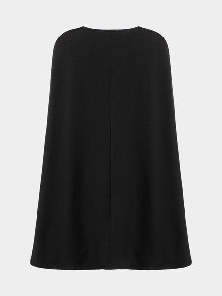 Yoins Cape Mini Dress in Black