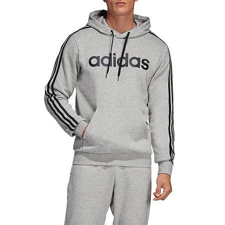 adidas Mens Long Sleeve Hoodie, Large , Gray