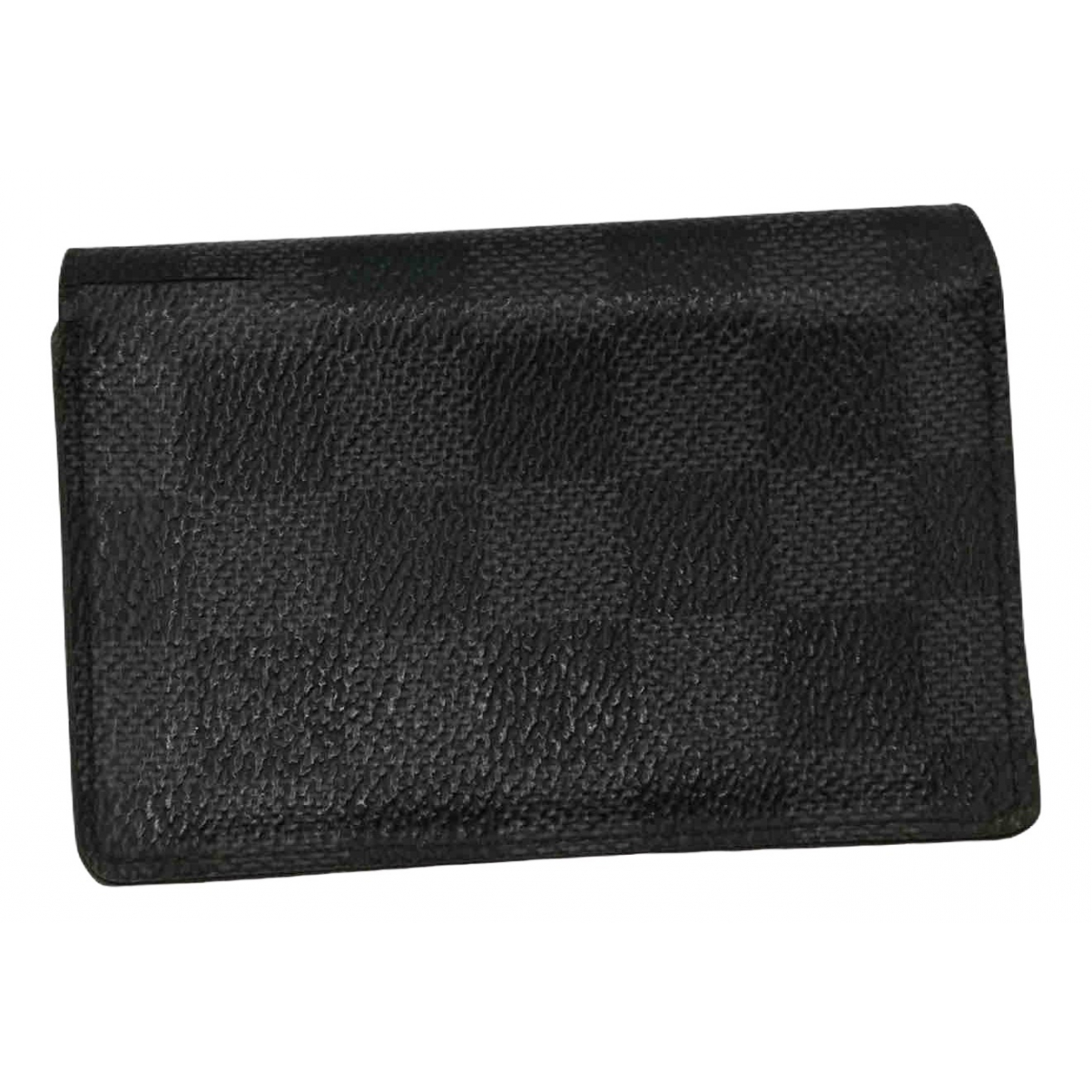 Louis Vuitton Pocket Organizer Kleinlederwaren in  Schwarz Leinen