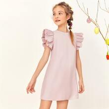 Pink Reissverschluss  Einfarbig Suess Maedchen Kleider