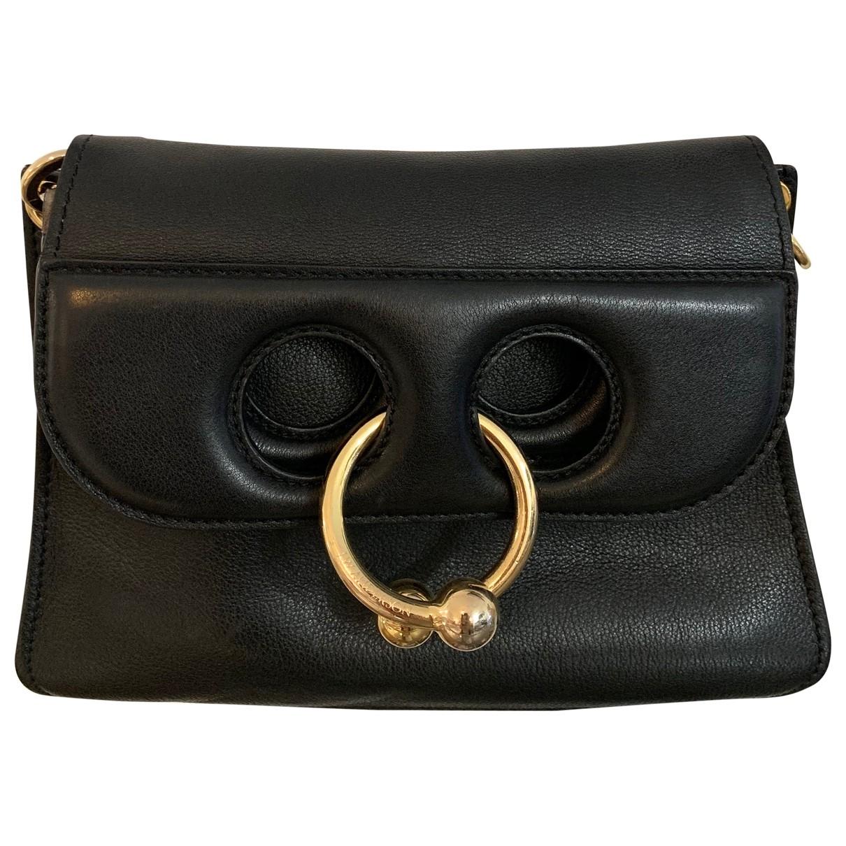J.w. Anderson Pierce Handtasche in  Schwarz Leder