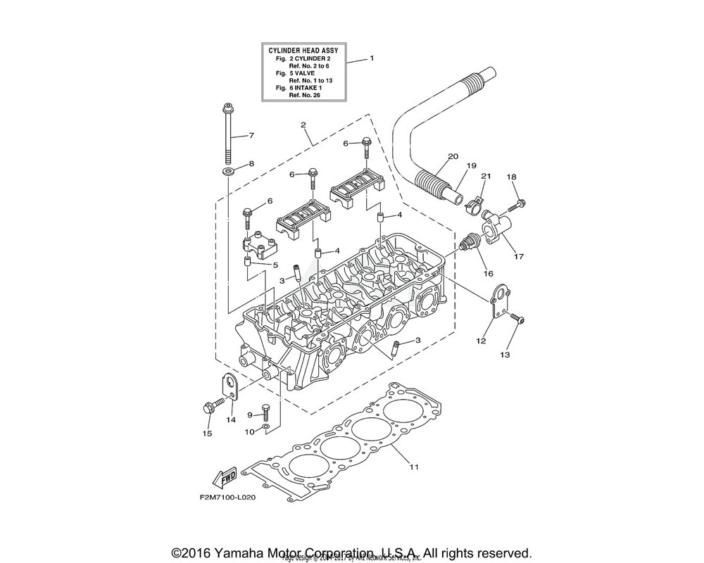 Yamaha OEM 6BH-11119-00-00 HANGER, ENGINE