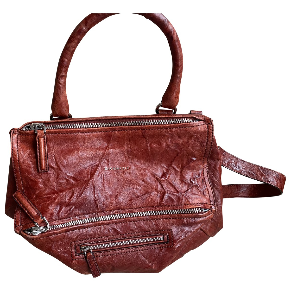 Givenchy Pandora Handtasche in  Bordeauxrot Leder