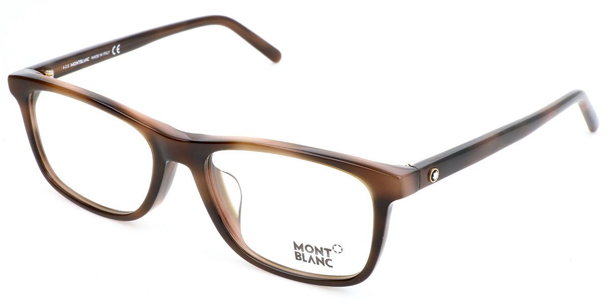 Mont Blanc MB0672F Asian Fit 052 Men's Glasses Tortoise Size 55 - Free Lenses - HSA/FSA Insurance - Blue Light Block Available