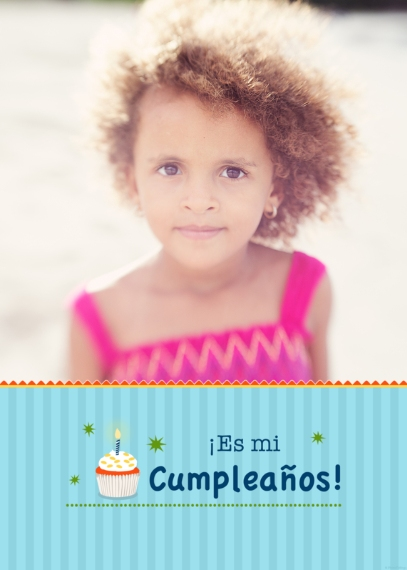 Kids Birthday Greeting Cards Mail-for-Me Premium 5x7 Folded Card , Card & Stationery -Es Mi Cumpleanos