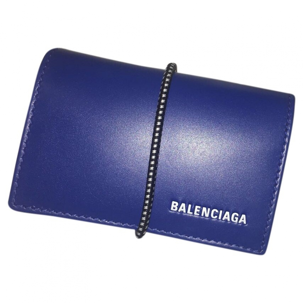 Balenciaga \N Blue Leather Small bag, wallet & cases for Men \N