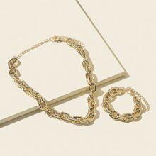 2 piezas set joya con diseño geometrico