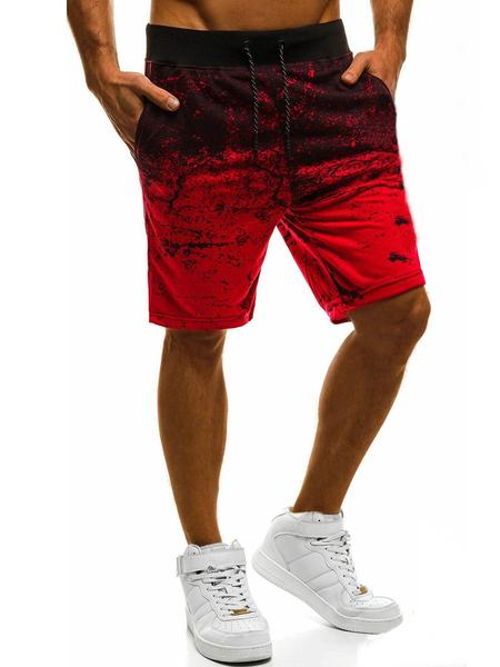 Yoins Men Casual Track Pants Fitness Jogger Tie Dye Shorts