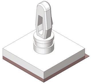 Richco LCBSBM-10-01A-RT, 15.9mm High Nylon PCB Support for 3.18mm PCB Hole, 12.7 x 12.7mm Base (100)