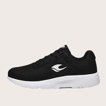 Maenner Sneakers mit Grafik und Spitze