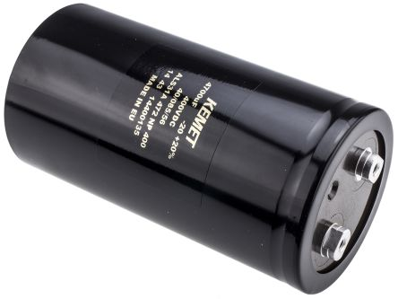 KEMET 4700μF Electrolytic Capacitor 400V dc, Screw Mount - ALS31A472NP400