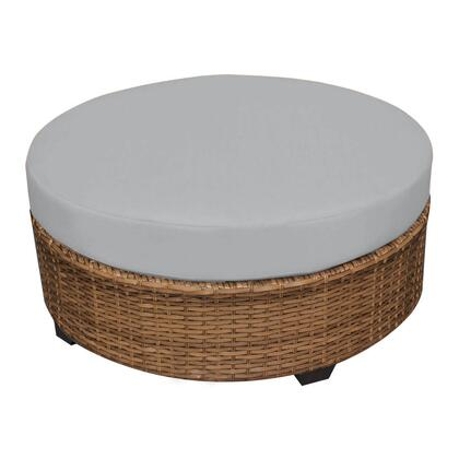TKC025b-CTRND-GREY Laguna Round Coffee Table with 2 Covers: Wheat and