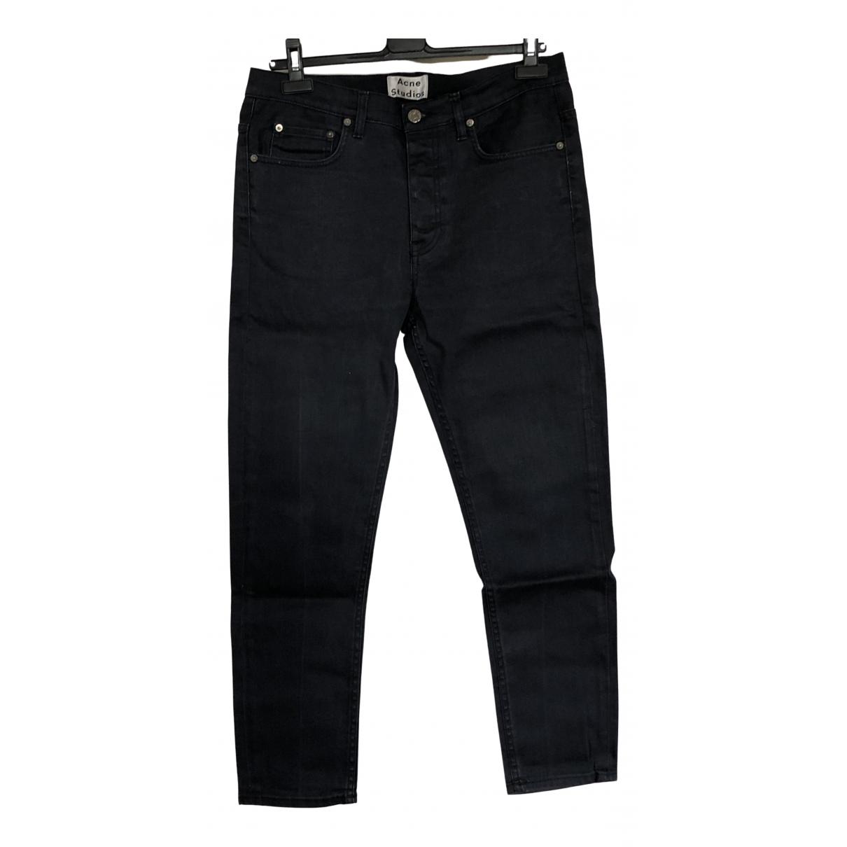 Acne Studios \N Navy Cotton - elasthane Jeans for Men 33 US