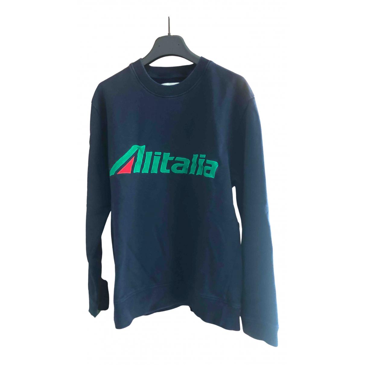 Alberta Ferretti - Pulls.Gilets.Sweats   pour homme en coton - bleu