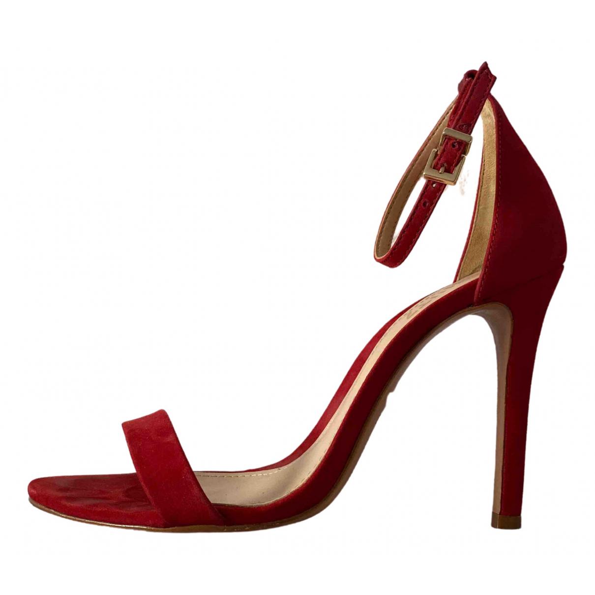 Schutz \N Red Suede Sandals for Women 37.5 EU