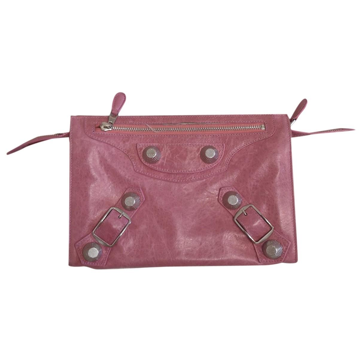 Balenciaga City Pink Leather Clutch bag for Women \N