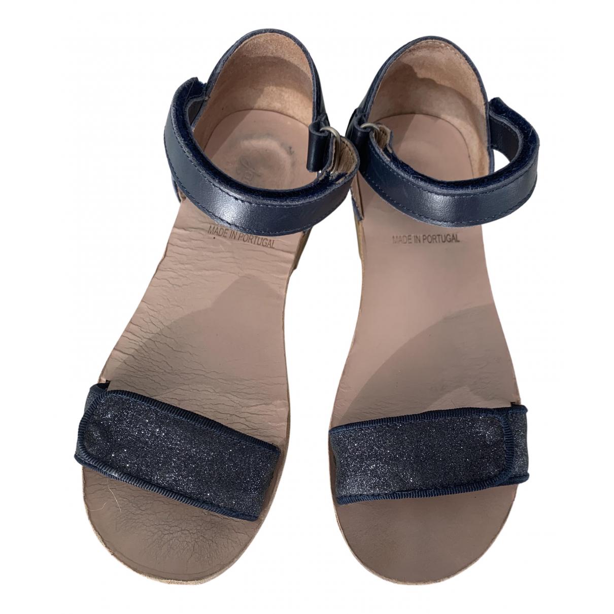 Jacadi \N Ballerinas in  Marine Leder