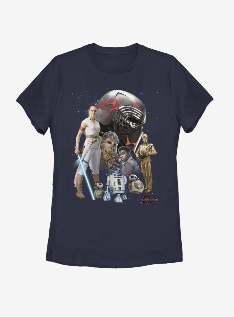 Star Wars Episode IX The Rise Of Skywalker Heroes Of The Galaxy Womens T-Shirt