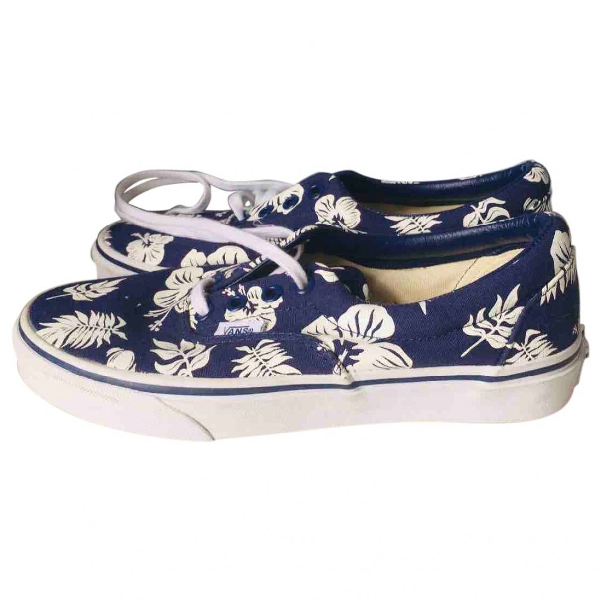 Vans \N Sneakers in  Marine Leinen