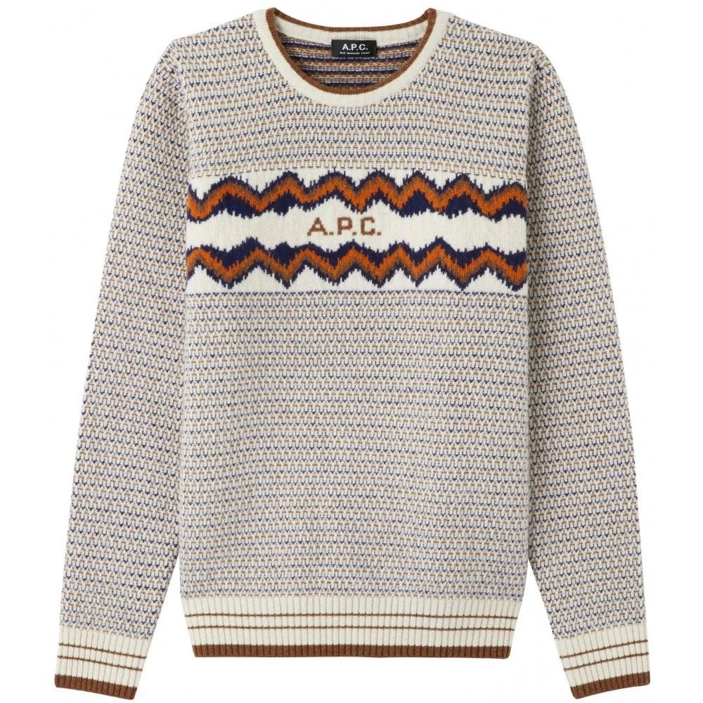 A.p.c Apc Wool Jumper Colour: MULTI COLOURED, Size: LARGE