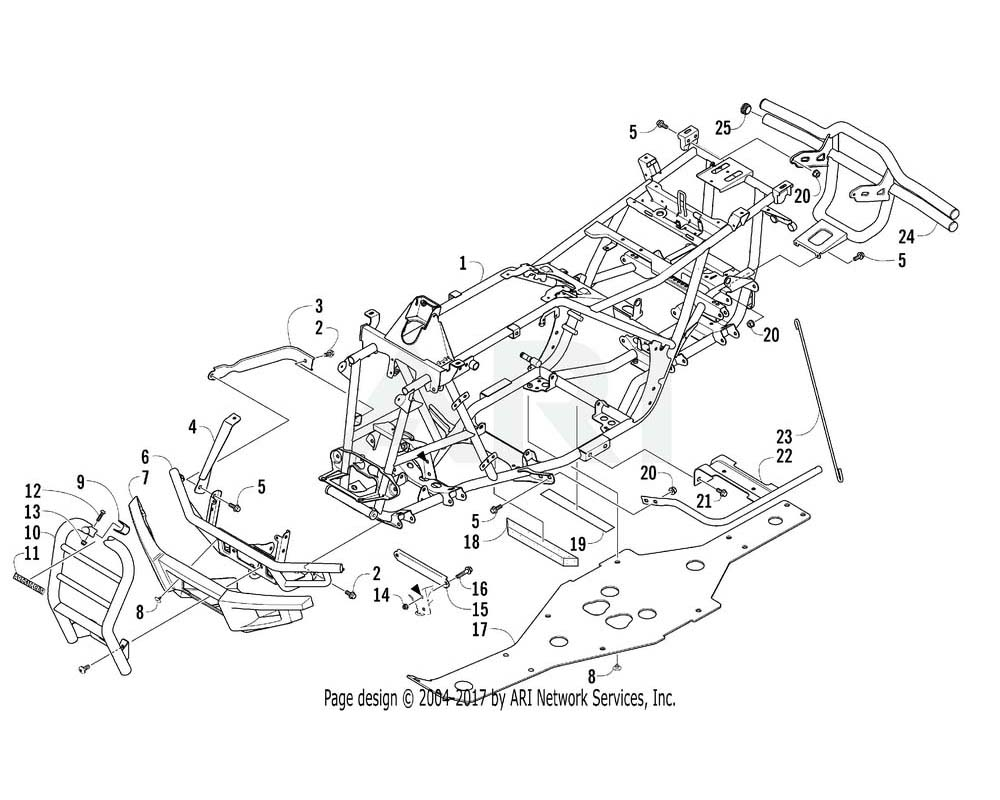 Arctic Cat OEM 1506-802 Bumper Push Rear | (Inc. 25)