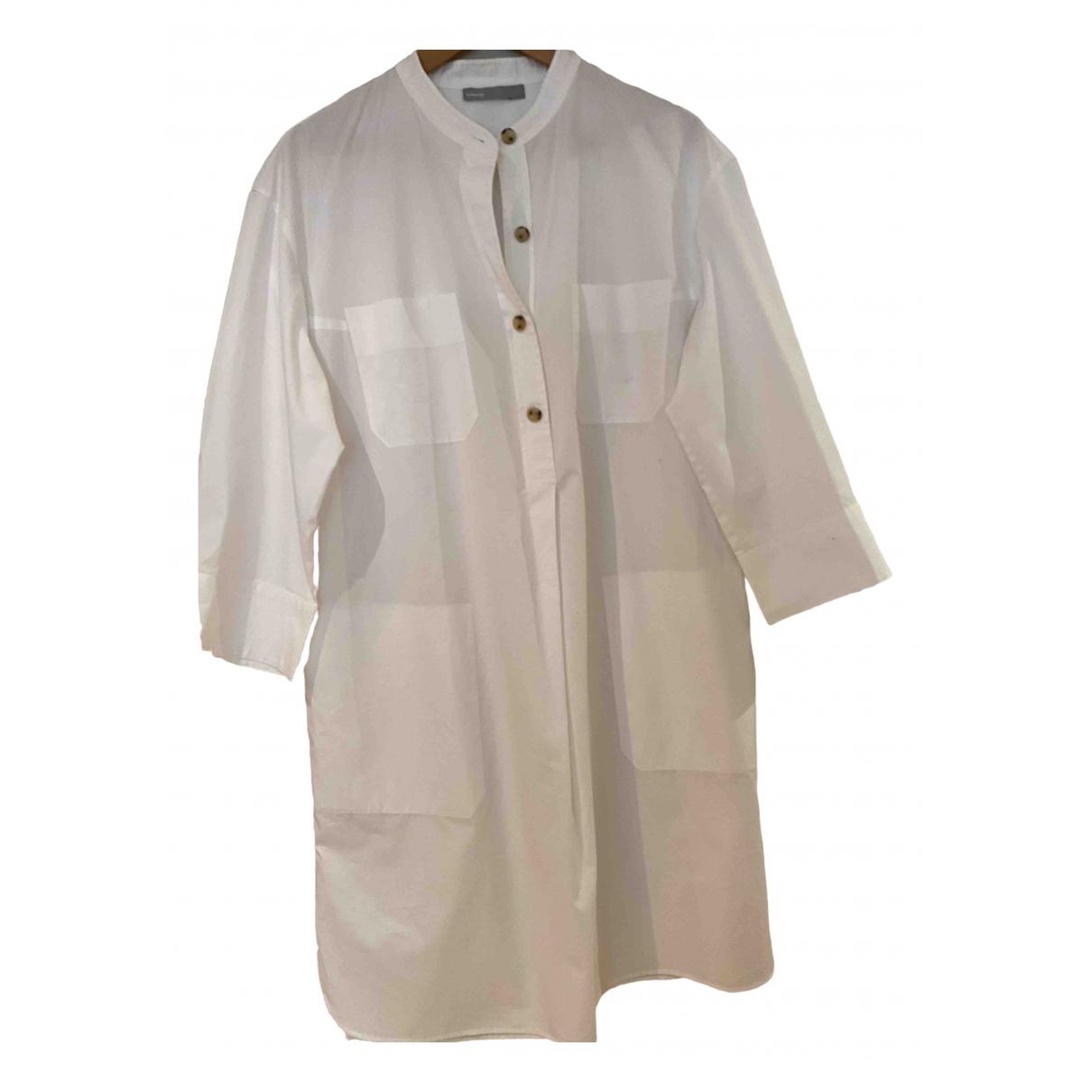 Vince \N Kleid in  Weiss Baumwolle