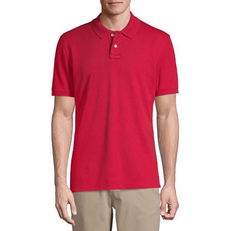 Arizona Short-Sleeve Flex Polo, Small , Red