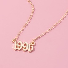 Number Charm Chain Necklace