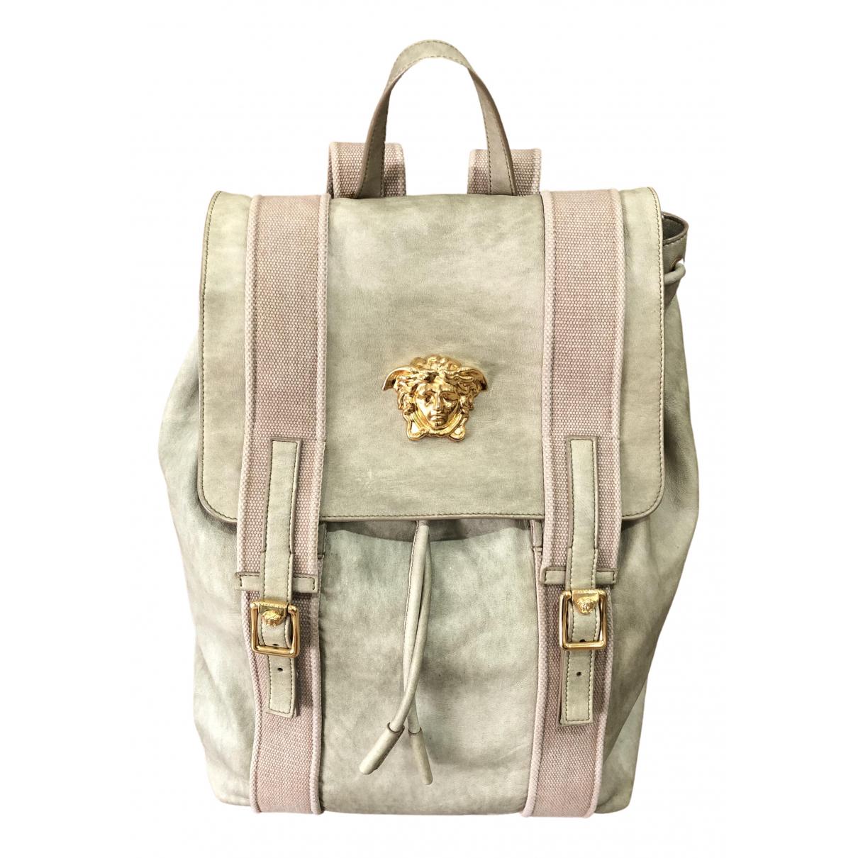 Versace \N Beige Leather bag for Men \N