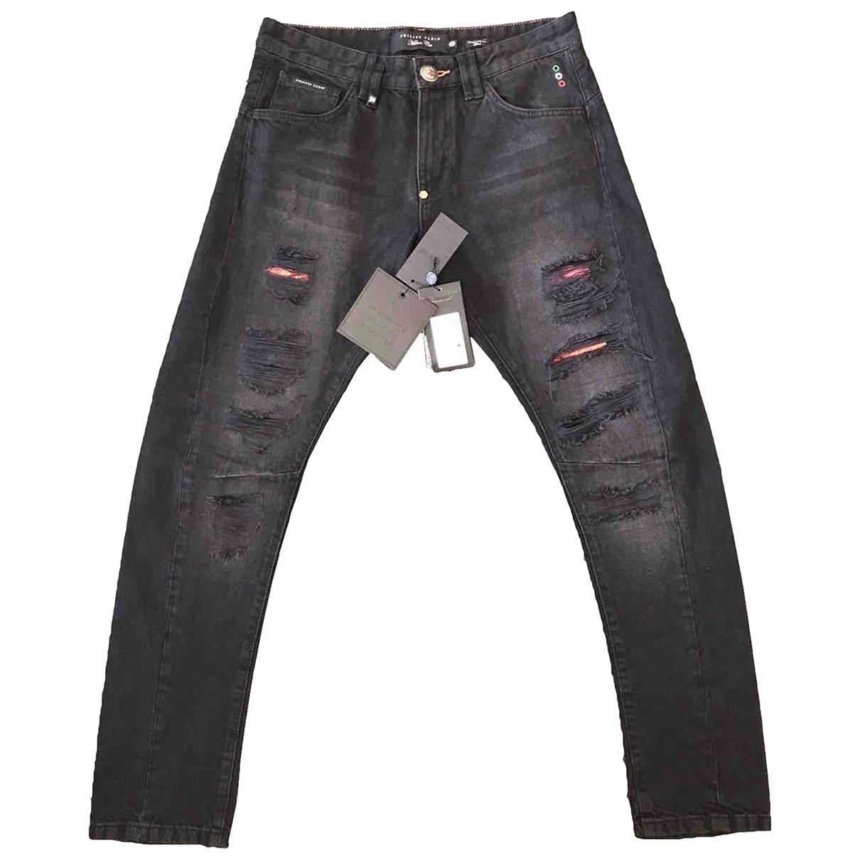 Philipp Plein \N Black Cotton - elasthane Jeans for Men 32 US