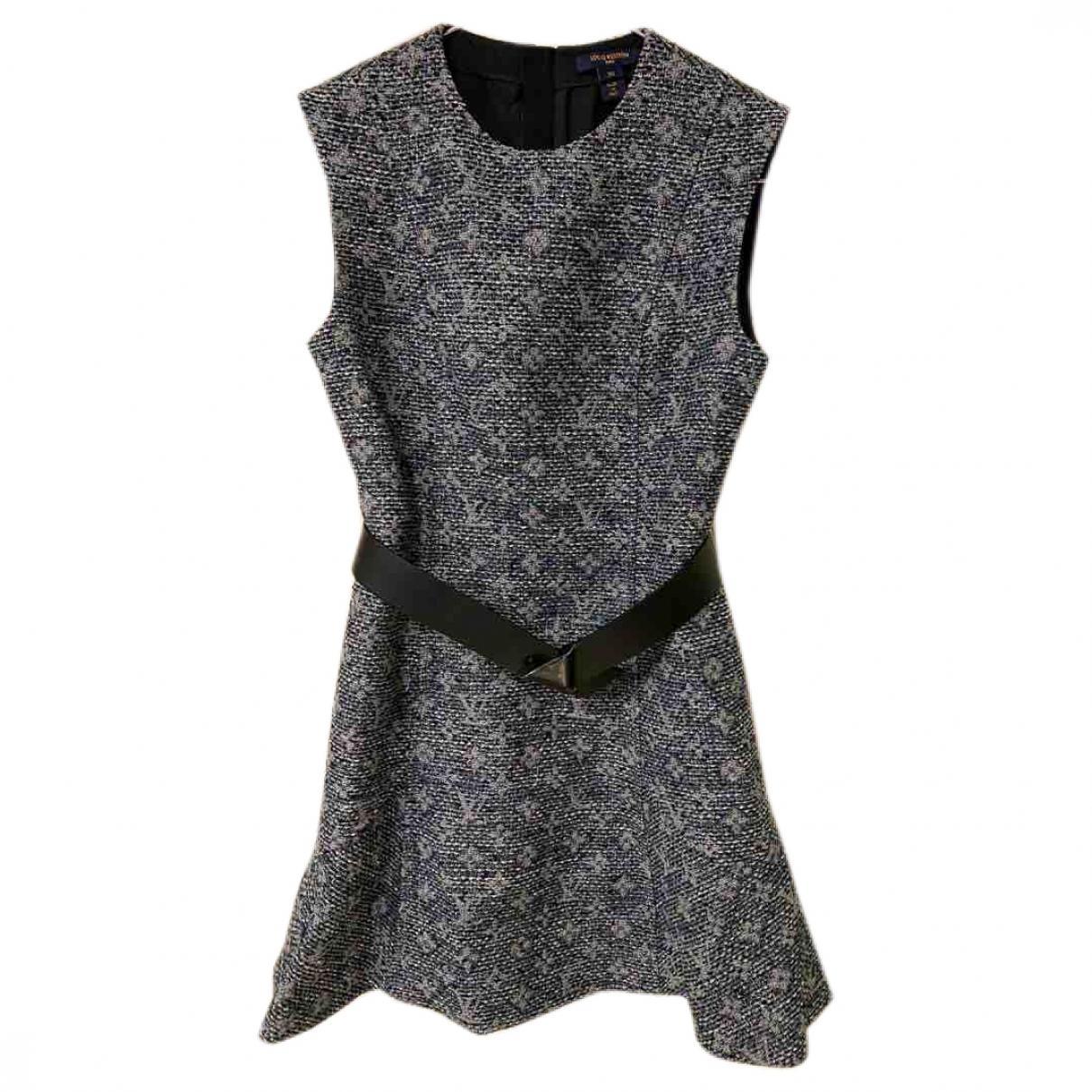 Louis Vuitton \N Kleid in  Grau Wolle