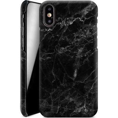 Apple iPhone XS Smartphone Huelle - Midnight Marble von caseable Designs