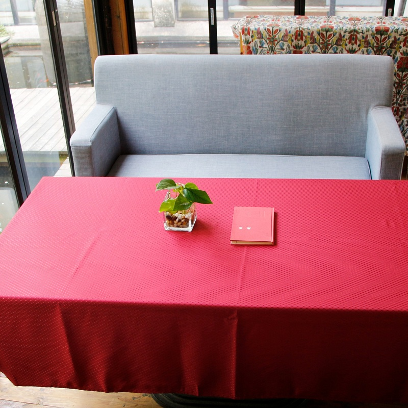 Polyester Simple Style Waterproof Oilproof Anti-Fouling Pure Color Tablecloth