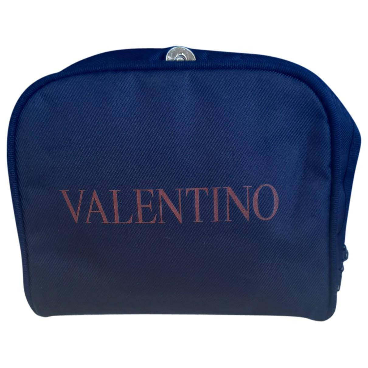Valentino Garavani - Sac de voyage   pour femme en toile - marine